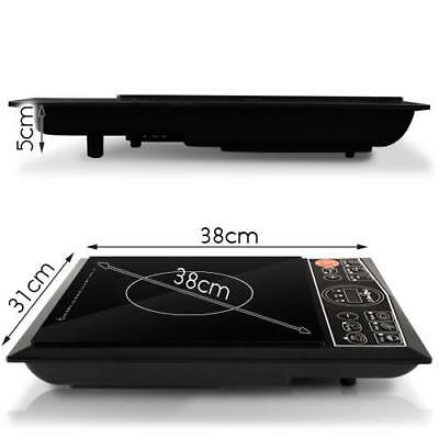 Black 2000W Electric Cooktop Induction Portable Single Cooker Kitchen Hot Plate