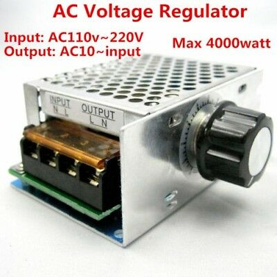 4000W Motor Speed Control AC 110V 220V SCR Voltage Regulator Adjustable Power
