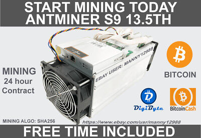 Rent an Antminer S9+13.5TH/s 24.5-25 Hours Rental Contract