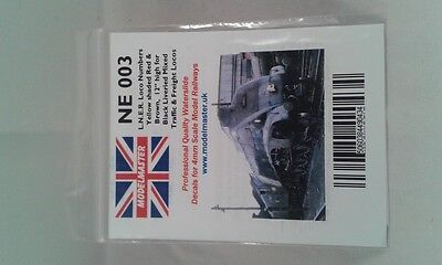 Numbers Decals LNER loco (mixed traffic & freight) - Modelmaster MMNE003 L1