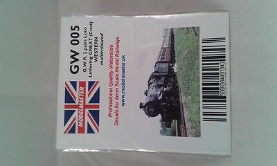 Multicoloured Lettering Decals for GWR Locos (2 pairs) - Modelmaster MMGW005 L1