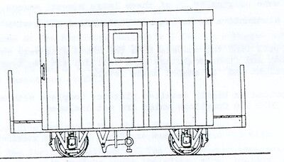 Festiniog 4 Wheel Brake Van 2 Balcony (OO9 kit) - Dundas DM48 - F1