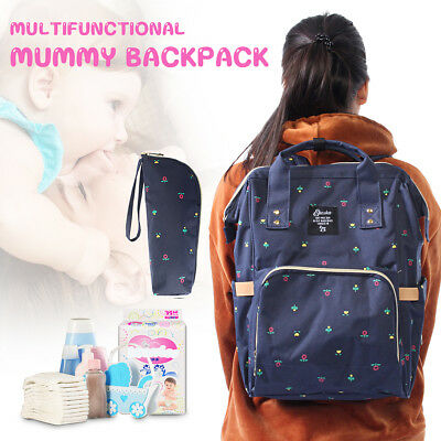 Mummy Maternity Backpack Bag Large Changing Capacity Baby Nappy Diaper Bag Trave