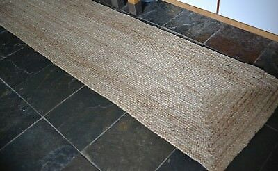 Jute woven Quality reversible braid Rustic weave 60x230cm natural fibres runner