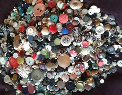 antique vintage buttons lot 6+ lbs
