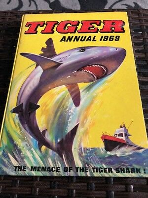 Rare Vintage Hb Book - Tiger Annual 1969 - Unclipped -