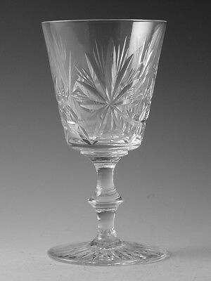 "EDINBURGH Crystal - STAR of EDINBURGH - Wine Glass / Glasses - 6 1/4"" (1st)"