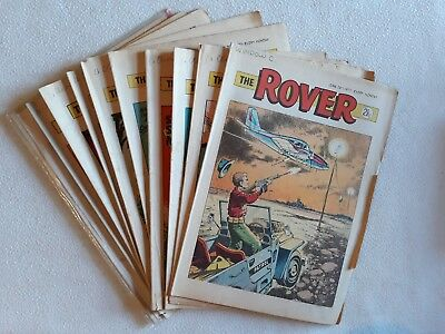 10 1971 Issues of The Rover ALL HIGH GRADE UK Comic