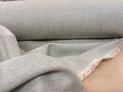 French So Soft Silk & Linen Mist Green blue Curtain/ upholstery Fabric