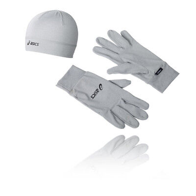 Asics Ensemble De Running  Gants And Bonnet Hommes Gris