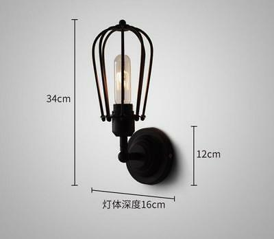 Sucastle Retro wall lamp, simple creative living room bedside hotel...