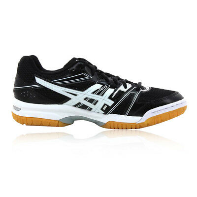 Asics Gel Rocket Mens Black Squash Indoor Court Sports Shoes Trainers