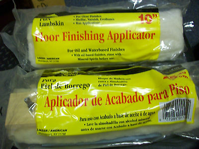 "Linzer 100 % Pure Lambskin 10"" Floor Finishing Applicator # LB110  NEW"