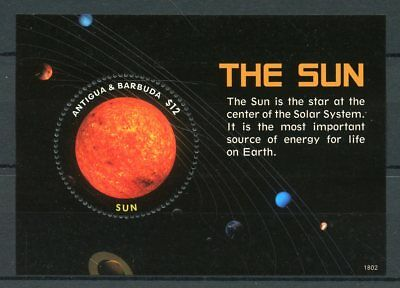 Antigua & Barbuda 2018 MNH Solar System The Sun 1v S/S Space Stamps