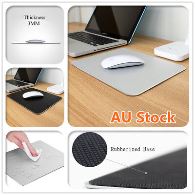 Aluminum Alloy Anti Slip Waterproof Metal Gaming Mouse Pad Mat Laptop PC Mac New