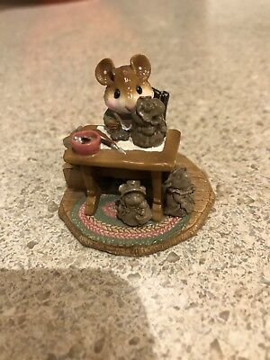 Wee Forest Folk Mrs. Mousey's Studio 20Th Anniversary Piece Mint With Box