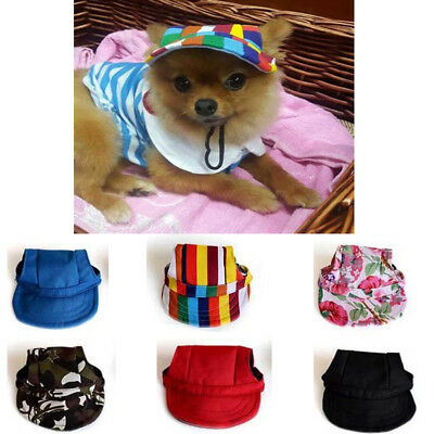 Pet Dog Baseball Hat Canvas Small Puppy Outdoor Accessories Summer Hiking Cap