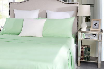 Classis Percale Poly Cotton Easy Care Sheet Sets Mint Single Double Queen King E