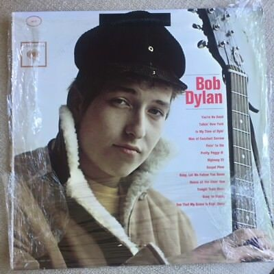 BOB DYLAN Self-Titled 1962 COLUMBIA 6 EYE PC8579 Stereo LP with Misprint  *Rare*