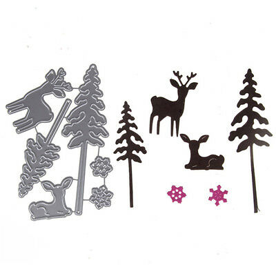 Lovely Deer and PineTree Cutting Dies Embossing Stencil Scrapbooking Album Craft