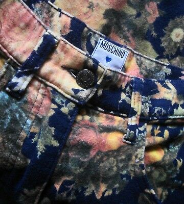 SKIRT gonna vintage 80's woman MOSCHINO jeans  made Italy TG.46-M circa  RARE