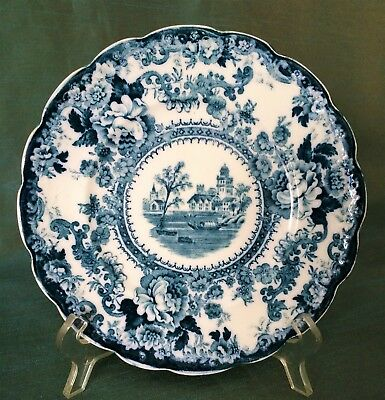 Antique Colonial Pottery Stoke England Flow Blue 'Togo' Plate