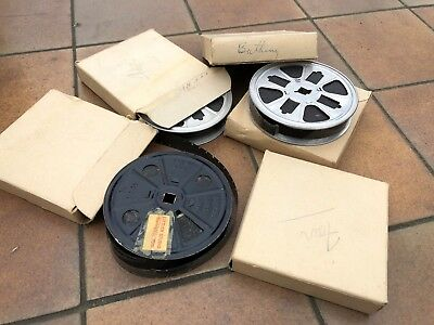 1960's Burlesque 16mm B&W Silent Stag Type Tease Films, Lot x4