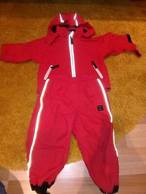 polarn o pyret 9-12month outdoor suit fluorescent