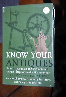 Know Your Antiques by Ralph and Terry Kovel. 1973 hardcover.