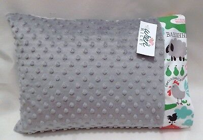 NWT Farm Animal Minky Toddler Pillowcase 12x16 Neutral Pig Duck Sheep Lamb Chick