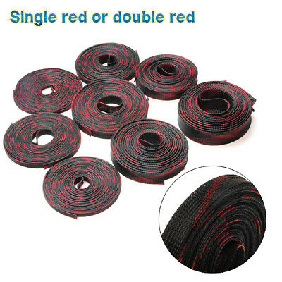 10M 4-25mm Braided Wire Tidy Mesh Expandable Sleeving Cable Wire Harness Sheath