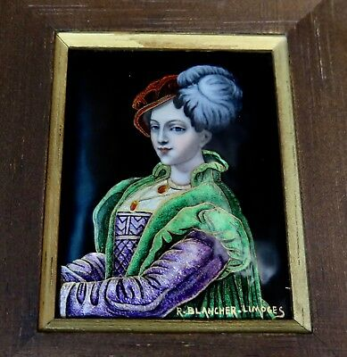Vintage Early 20th Century Limoges Enamel Painting