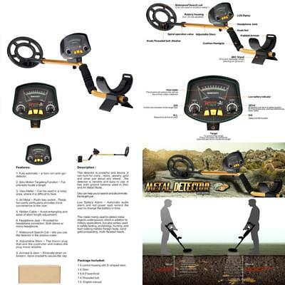Underground Advanced Metal Detector With Lcd Display And Large Waterproof Coil