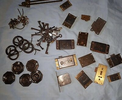 vintage antique brass keys locks cupbaorx handles