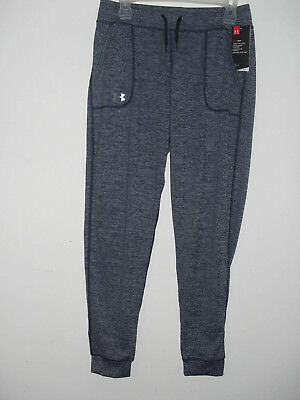 Under Armour Womens Loose Heat Gear Pants 1269183-411 Navy Size Small NWT