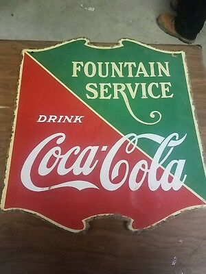 hard to find porcelian coke sign double sided