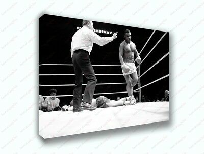 Mike Tyson Boxing Knockout Black And White Poster Canvas Print Art Decor Wall