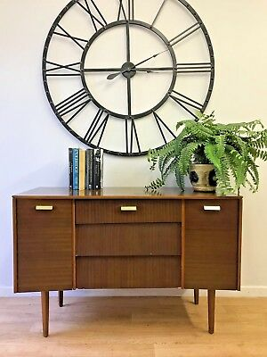 Mid Century Retro Compact Small Sideboard