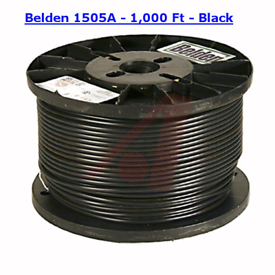 1,000' Spool - Belden 1505A RG59/20 HD/SDI Digital Coaxial Cable - BLACK