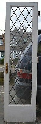 British leaded light stained glass door. B767a. WORLDWIDE DELIVERY!