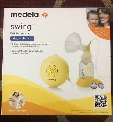 Medela Swing Single Electric Breast Pump - NEW - Factory SEALED - COMPLETE Kit