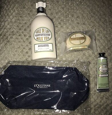 loccitane gift set Amande ALMOND brand new with toiletry bag FULL size firming