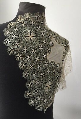 antique vintage spider lace bridal wedding hankie textile