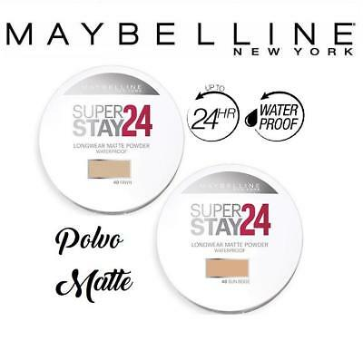 MAYBELLINE Super Stay 24H Powder Polvo Compacto Mate Waterproof Maquillaje