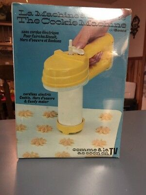 Vintage 1976 Ronco THE COOKIE MACHINE As seen on TV Cookie Maker Press New
