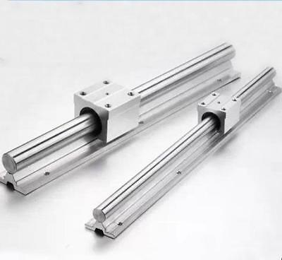 4 X SBR10-600mm 10MM FULLY SUPPORTED LINEAR RAIL SHAFT ROD + 4 SBR10UU Block