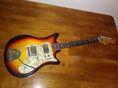 vintage 1960 39 s encore teisco hollowbody electric guitar made in japan picclick ca. Black Bedroom Furniture Sets. Home Design Ideas