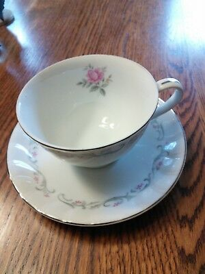 Fine China of Japan Royal Swirl Pattern Cup & Saucer Set