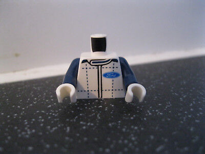 Lego Minifigure Upper Body Part with Mine Workers Vest and Braces Print.