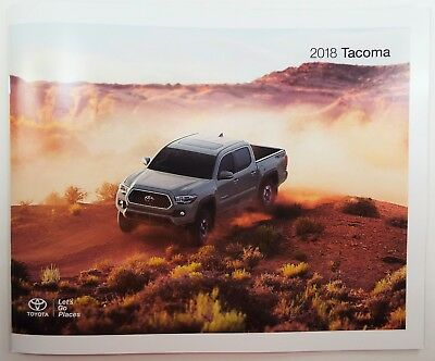 2018 Toyota Tacoma Genuine USA Factory Sales Brochure - Just Out! FREE SHIP!